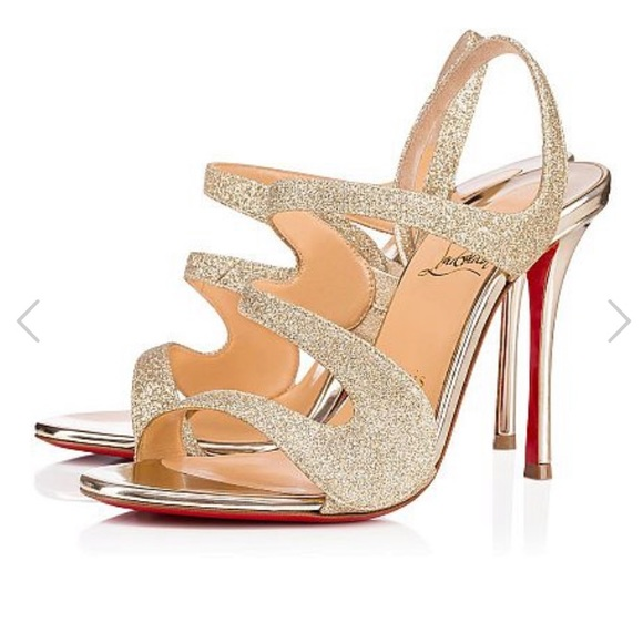 competitive price 7be94 6704c Christian Louboutin Sparkly Heels